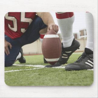 Football Player Kicking Football Mouse Pad