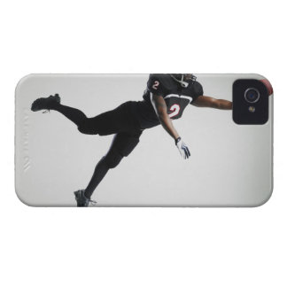 Football player leaping in mid air to catch ball Case-Mate iPhone 4 case