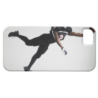 Football player leaping in mid air to catch ball iPhone SE/5/5s case