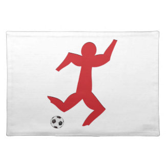Football player more soccer more player placemats
