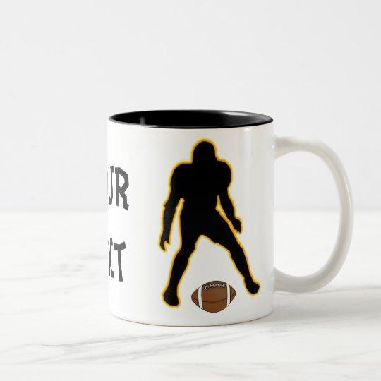 football player-mug Two-Tone coffee mug