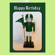 Football Player Nutcracker Happy Birthday Card
