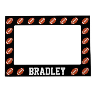 Football Player or Team Name/Text Custom Magnetic Magnetic Photo Frame