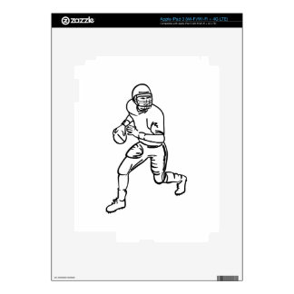 Football Player Outline iPad 3 Skin