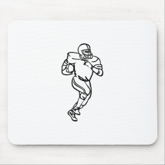 Football Player Outline Mouse Pad