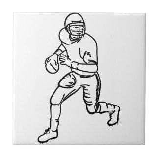 Football Player Outline Tile