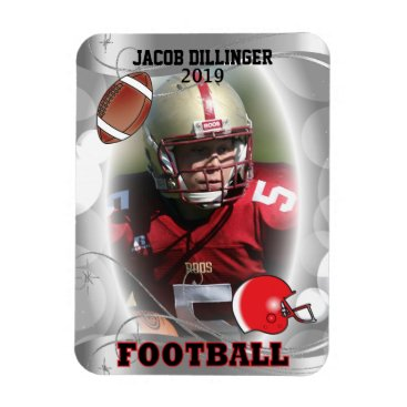 Beach Themed Football Player Photo Template Designs Magnet