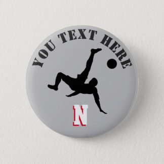 Football player pinback button