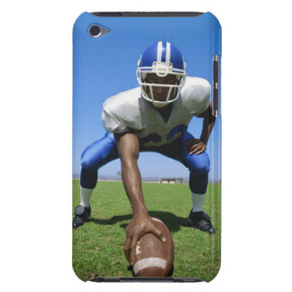 football player playing on a football field barely there iPod case