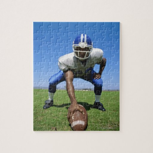 football player playing on a football field puzzle