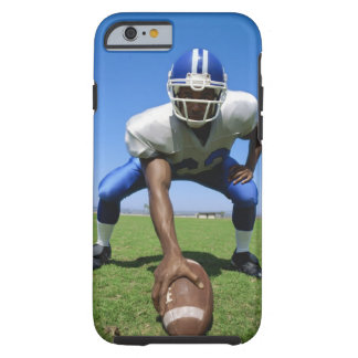 football player playing on a football field tough iPhone 6 case