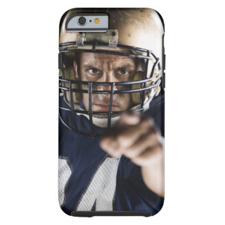 Football player pointing and looking intense tough iPhone 6 case