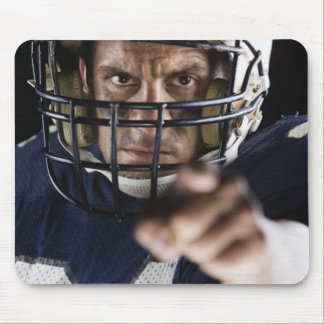 Football player pointing and looking intense mousepads