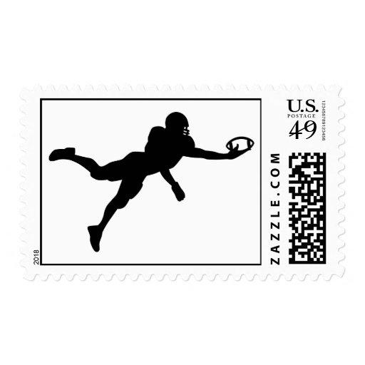 Football player postage stamp