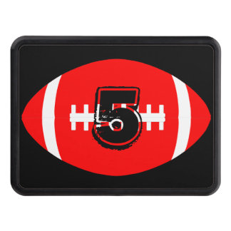 Football Player Red Football Jersey Number/Letters Hitch Cover