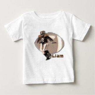 Football player sepia baby t-shirt. baby T-Shirt