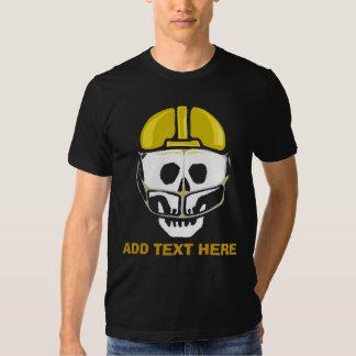 Football Player Skull Gold, ADD TEXT HERE Tee Shirt