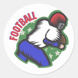 Football Player Classic Round Sticker
