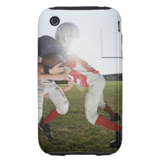 Football player tackling opponent iPhone 3 tough cases