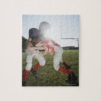Football player tackling opponent jigsaw puzzle