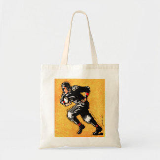 Football Player Vintage Gridiron 30s Illustration Tote Bags