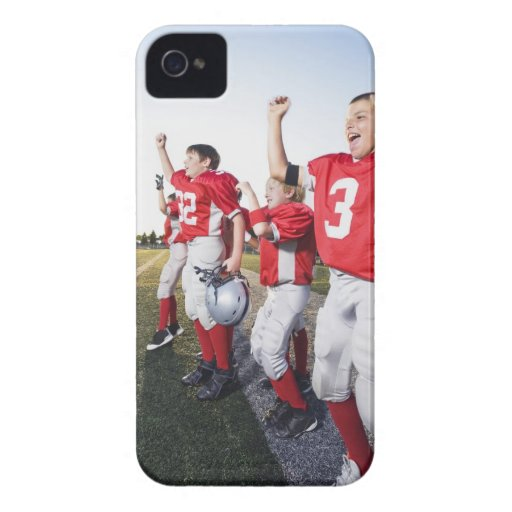 Football players cheering on sideline iPhone 4 cases
