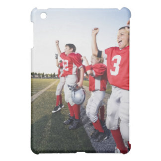 Football players cheering on sideline cover for the iPad mini