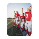 Football players cheering on sideline vinyl magnets