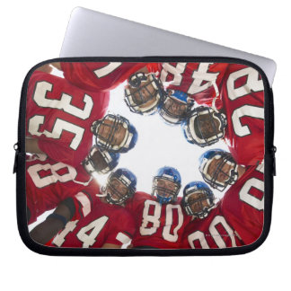Football Players in Huddle Laptop Computer Sleeves
