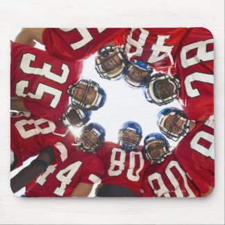 Football Players in Huddle Mouse Pad