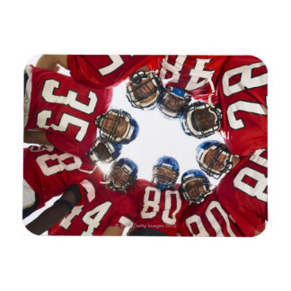 Football Players in Huddle Rectangular Photo Magnet