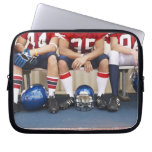 Football Players on Bench 2 Laptop Sleeve