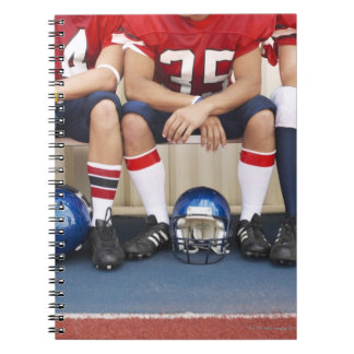 Football Players on Bench 2 Notebook