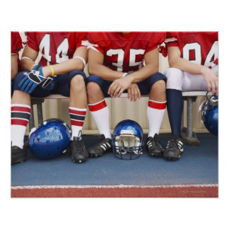 Football Players on Bench 2 Poster