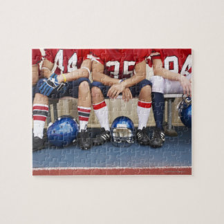 Football Players on Bench 2 Jigsaw Puzzles