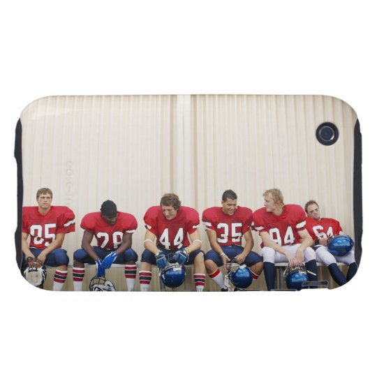 Football Players on Bench iPhone 3 Tough Case