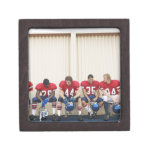 Football Players on Bench Jewelry Box