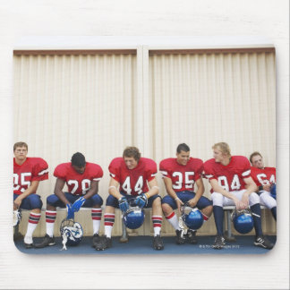 Football Players on Bench Mouse Pad
