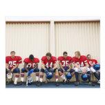 Football Players on Bench Postcard