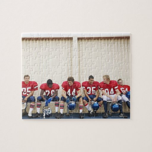 Football Players on Bench Puzzle