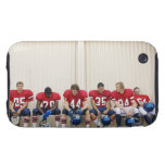 Football Players on Bench Tough iPhone 3 Covers