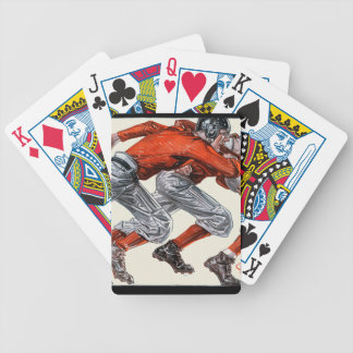 Football Players Playing Cards