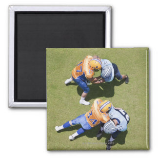 Football players playing football 2 2 inch square magnet