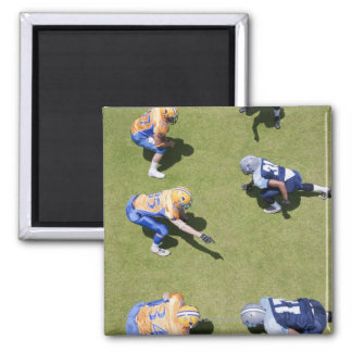Football players playing football 2 inch square magnet