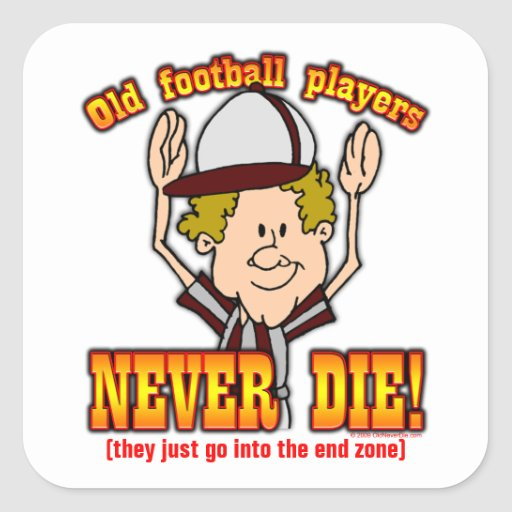 Football Players Square Stickers