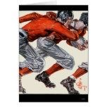 Football Players Stationery Note Card
