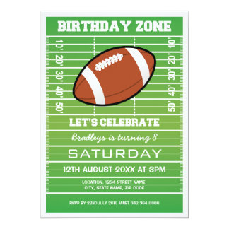 FOOTBALL PLAYING FIELD BIRTHDAY INVITATIONS