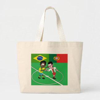 "FOOTBALL PORTUGAL BRAZIL ""RESPECT "" CANVAS BAGS"