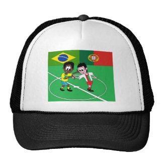 """FOOTBALL PORTUGAL BRAZIL """"RESPECT """" TRUCKER HAT"""