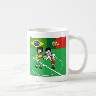 "FOOTBALL PORTUGAL BRAZIL ""RESPECT "" CLASSIC WHITE COFFEE MUG"